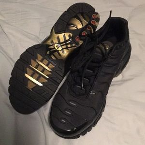 Men's Nike Air Max Plus TN BlackGold Size 13